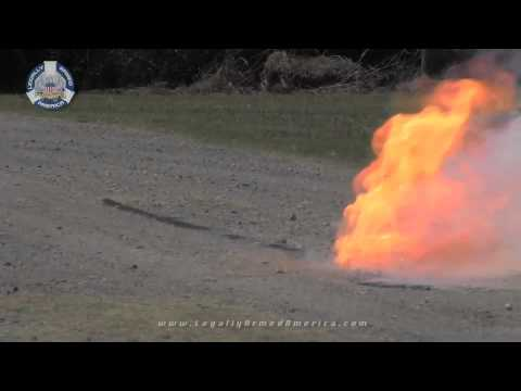 Explosives demonstration: Military grade and household