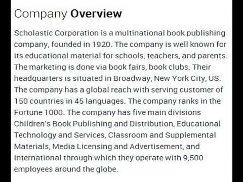 Scholastic Corporation Corporate Office Contact Information
