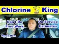 DON'T DO FREE Work On Pool Service Estimates - Chlorine King Pool Service