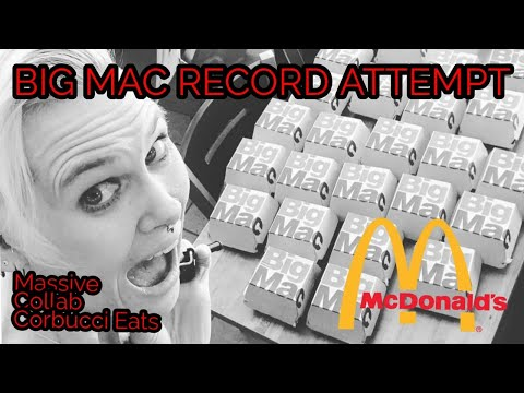 McDonald's BIG MAC CHALLENGE WORLD RECORD | Collaboration With CORBUCCI EATS AND MOLLY SCHUYLER