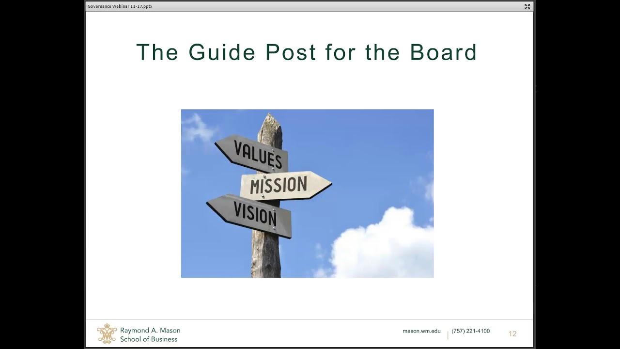 Image for Mason Alumni & Faculty Presenter Series: Membership on a Non-Profit Board with Susan Rucker '78 webinar