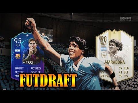 MARADONA 98 Y MESSI - 5 ICONOS EN MI MEJOR FUTDRAFT, FIFA 19 thumbnail