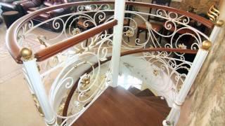 Лестница винтовая и прямая Жуково(Кованая лестница в частный дом ., 2015-08-06T13:35:42.000Z)