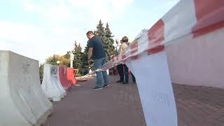 В Нижнем Новгороде частично обрушилась Чкаловская лестница