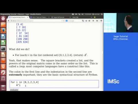Sage Introductory Programming Tutorial