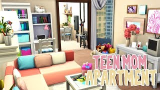 Teen Mom Apartment 💕 || The Sims 4 Apartment Renovation: Speed Build