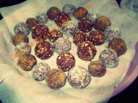 how to make chocolate coconut balls without condensed milk