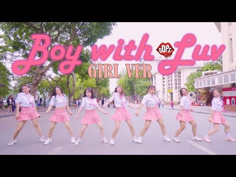 [KPOP IN PUBLIC] GirlVer BTS '작은 것들을 위한 시(Boy With Luv) ft. Halsey Dance Cover by Oops! Crew