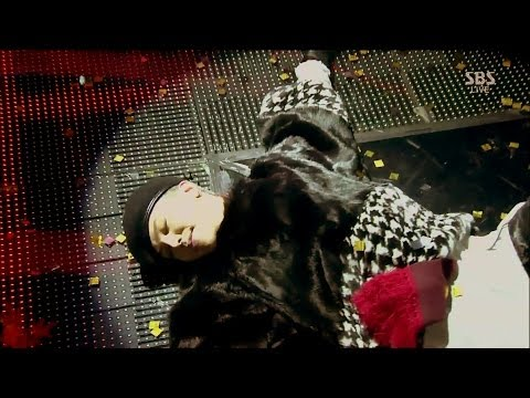G-DRAGON_1103_SBS Inkigayo_BLACK+니가 뭔데(WHO YOU)+삐딱하게(CROOKED)