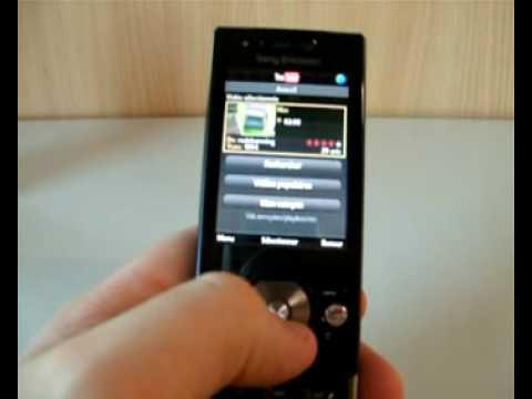 vue en détail des menus du Sony Ericsson G705