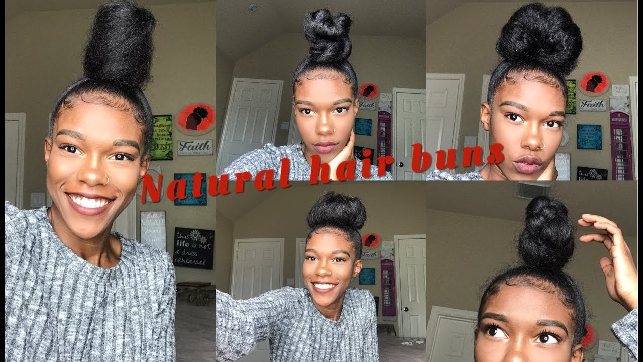 Sleek High Bun Tutorials  Natural Hair