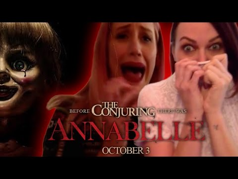 Maudie & Alicia watch the 'Annabelle'  trailer