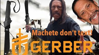 gerber Gator JR Machete Review, Plus Buck 110 Knife!!! (At the end)