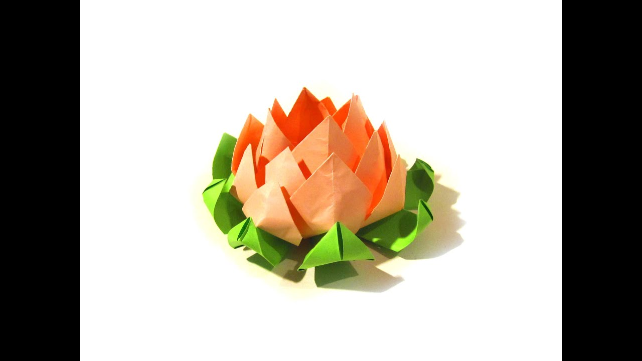 Lotus Flower Origami - Modular origami - Very easy ... - photo#33