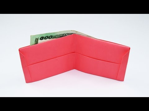 How to Make a Paper Wallet - DIY Origami Wallet instructions