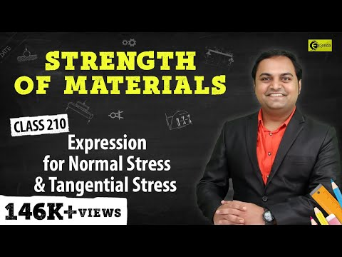 Expression For normal stress and tangential strees .