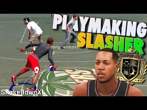 1on1 & Playground / NEW SLASHING PLAYMAKER Build - NBA 2K18 Archetype