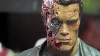Battle Damaged T-800 Diorama Update 3