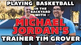 Playing Basketball In The Backyard With Michael Jordan