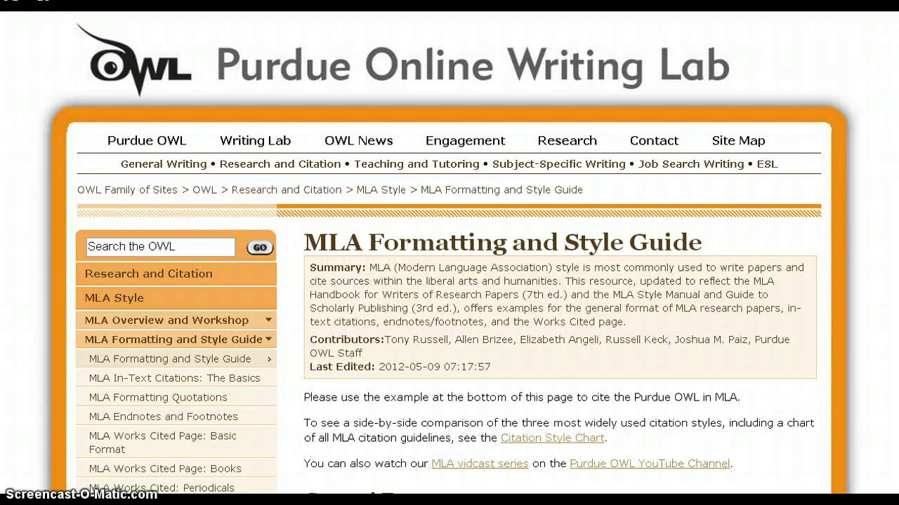 mla format overview youtube