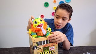 Abrindo CAIXA com MONSTRO SURPRESA | Brinquedo Crate Creatures