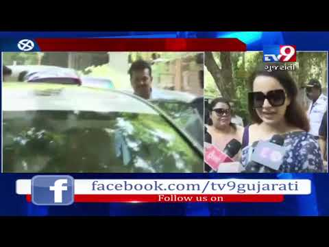 Mumbai: Actress Kangana Ranaut casted her vote at a polling booth in Khar- Tv9