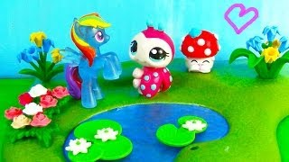 MLP Shopkins Rainbow Dash LPS - Love You Dots - Littlest Pet Shop My Little Pony Play