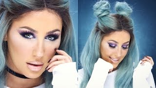 Cool Toned Colorful Eyeshadow Tutorial + Faux Freckles- CHRISSPY
