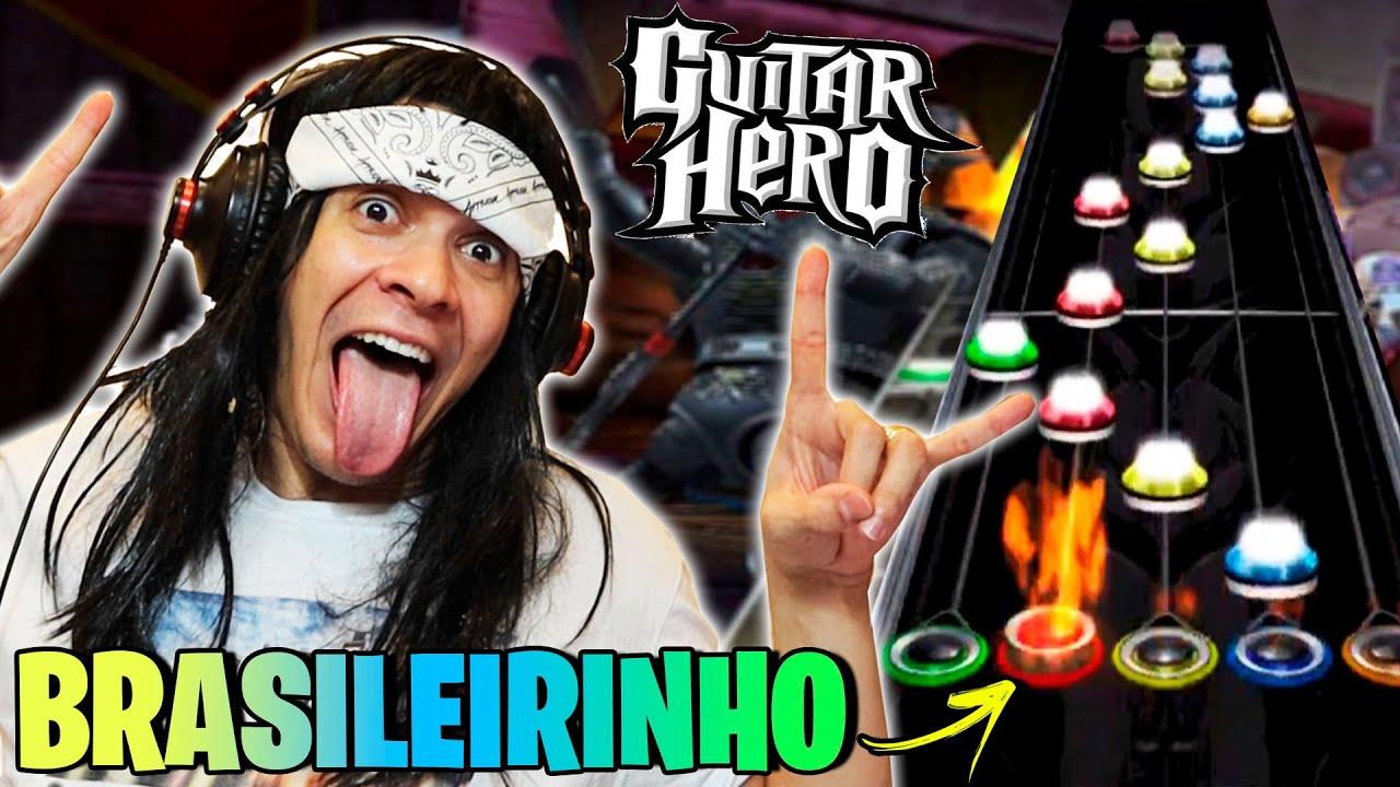 O MAIOR ROCKEIRO DO YOUTUBE NO GUITAR HERO BRAZUCAS!