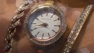 Anne Klein Women's AK/2046RGST Analog Display Japanese Quartz Rose Gold Watch
