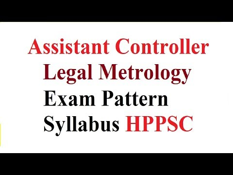 Assistant Controller Legal Metrology Exam Pattern And Syllabus