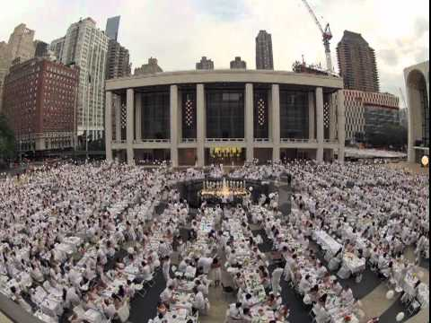 NYC Diner en Blanc 2012 - Lincoln Center Timelapse Video [Untapped New York]