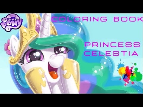 My Little Pony Coloring Book MLP Princess Celestia Pages For Kids