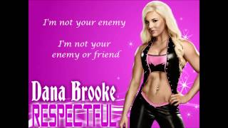 Dana Brooke WWE Theme Song - Respectful (lyrics)