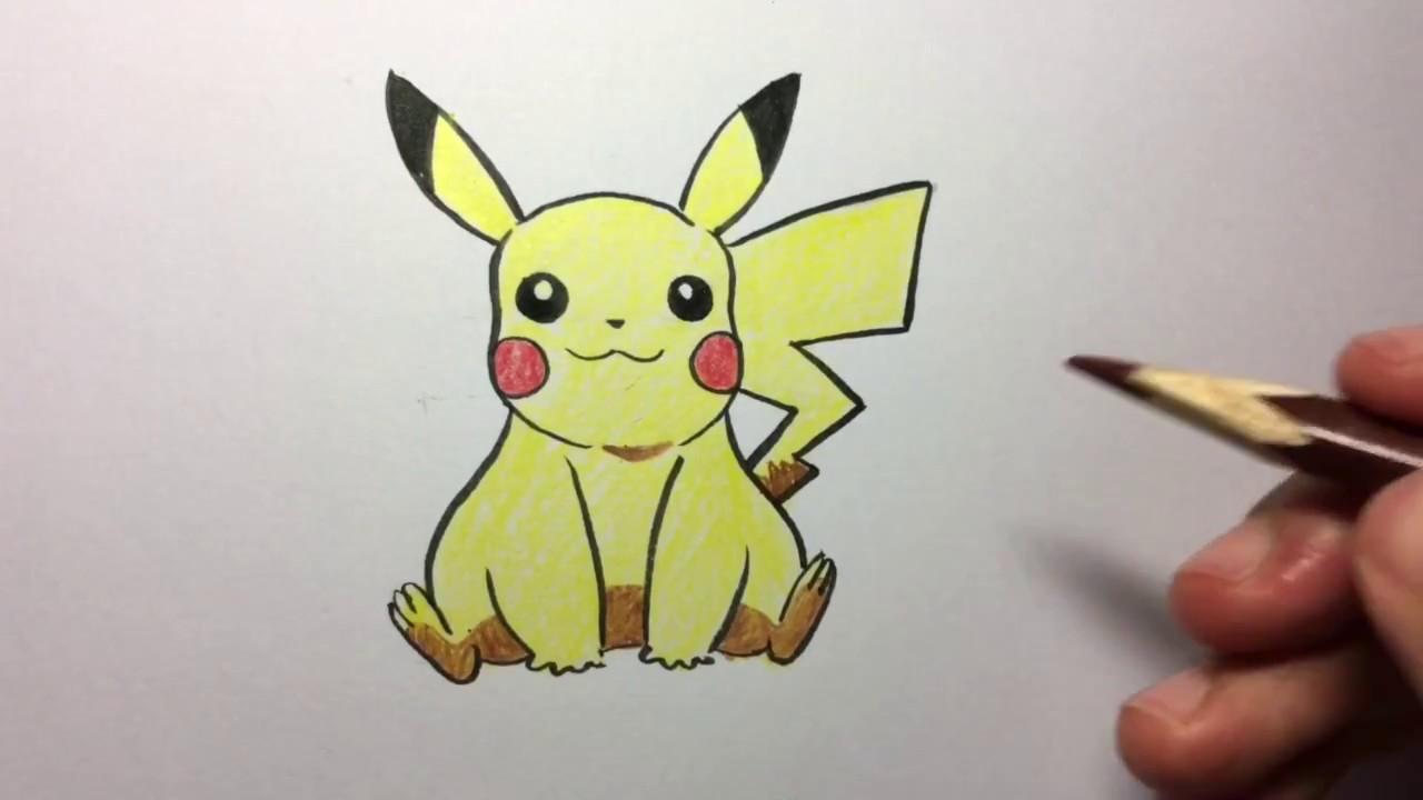 สอนวาดการตน ปกาจ โปเกมอน Pikachu Pokemon