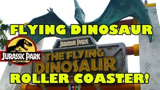 Jurassic Park Flying Dinosaur Roller Coaster Off Ride Universal Studios Japan