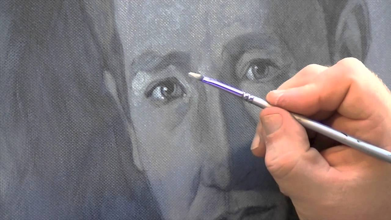 Painting A Portrait Using A Grisaille Grey Tone
