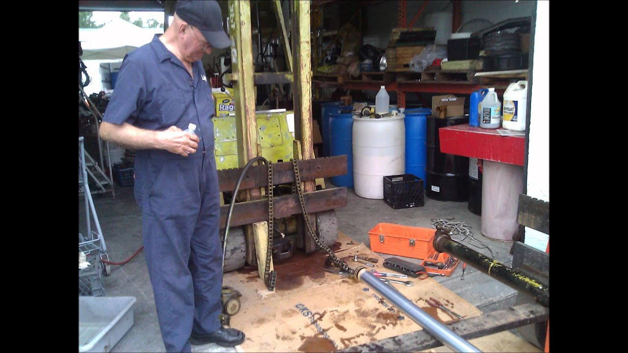 Clark Forklift Restoration 1972 C50055  YouTube