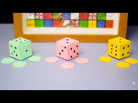 Simplest Way To Make Paper Dice - Easy DIY Origami
