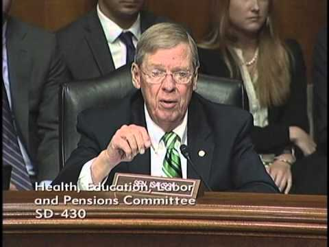 Senator Isakson at HELP Committee Hearing on the Cost of Higher Education