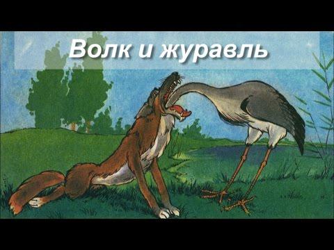 Басня Волк и журавль