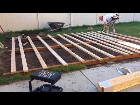 How to build a wood base for a storage shed