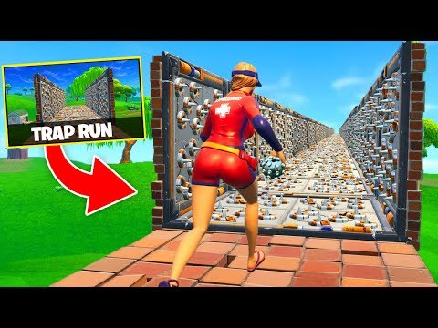 *NEW* TRAP TUNNEL RACE In Fortnite Battle Royale!