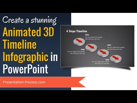 Create Animated 3D PowerPoint Timeline Infographic