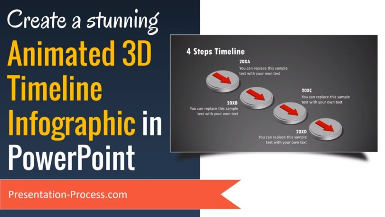 create animated 3d powerpoint timeline infographic youtube