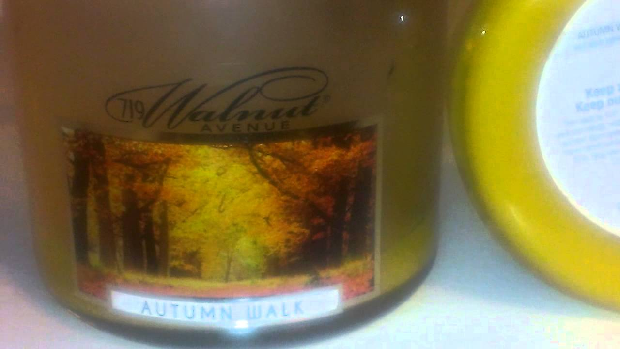 Review of 719 Walnut Avenue Candle in Autumn Walk - YouTube
