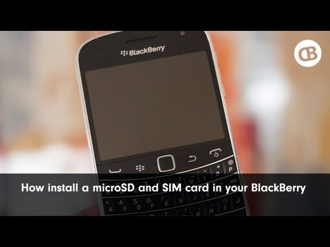 How to Install the MicroSD and SIM Card into a BlackBerry