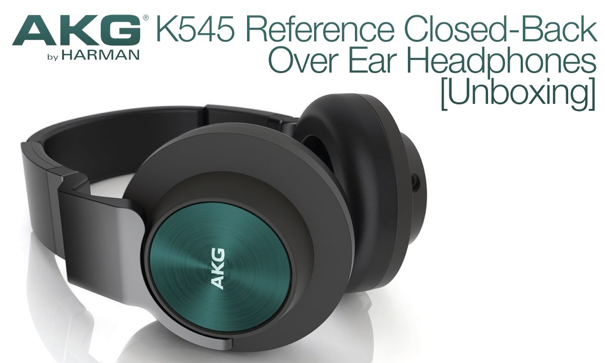 AKG K545 Reference Closed-Back Over Ear Headphones
