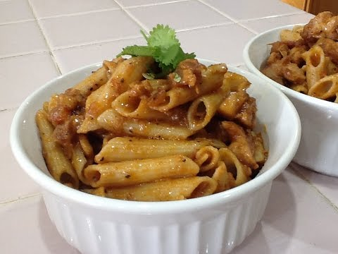 Chicken Pasta Indian Style Spicy Recipe