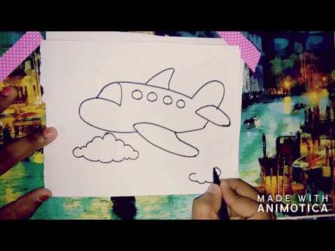 How To Draw Fastest Transport-Aeroplane || Air Transport || Easy Drawing for Kids